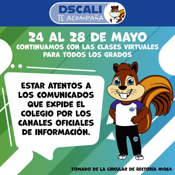 MAYO 24-28: CONTINUAMOS LAS CLASES VIRTUALES