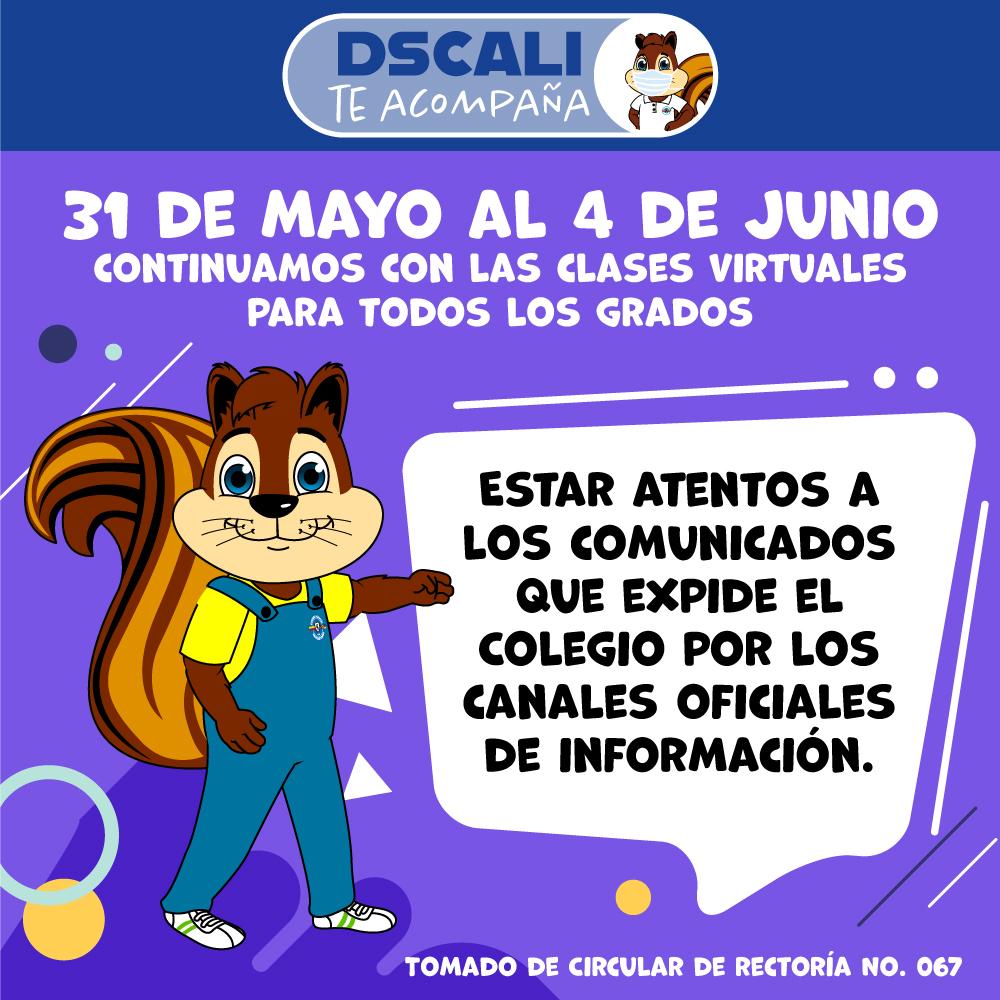 31 DE MAYO AL 4 DE JUNIO: CONTINUAMOS LAS CLASES VIRTUALES